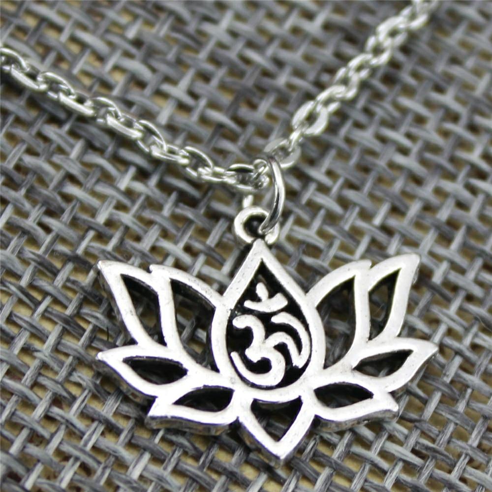 Women's Lotus Om Necklace 3