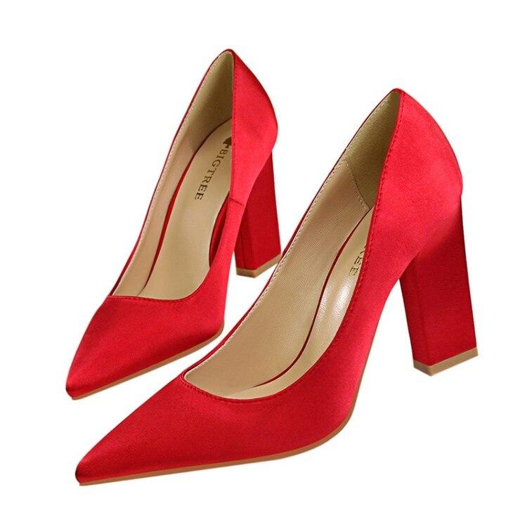 Pompes Essential Satin Femmes d5239 1r 1d Talon 1b Robe D5239 Confortable 1n d5239 Bloc En Slip Themost Bout Pointu Chaussures d5239 5w7CYCfq