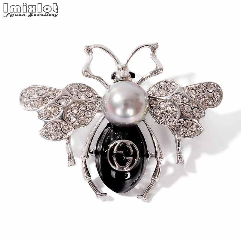 Bahan Alam Hewan Perhiasan Pin Bros Kupu-kupu Lebah Kumbang Bros untuk Wanita Kostum Bros Pin Hadiah