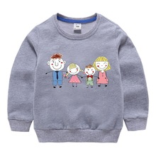 Spring and Autumn 2019 New Childrens Wear Long Sleeve T-Shirt for Boys Baby Girls 2-8 Years Old