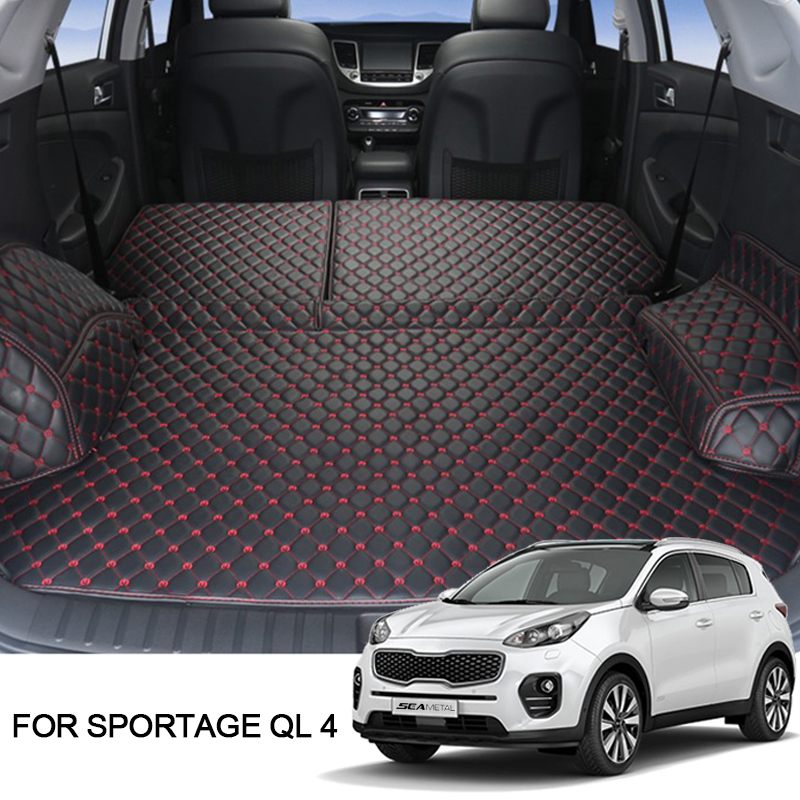 Cargo Liner For LHD Kia Sportage 4 QL Kx5 2018 2017 2016 Car Floor Trunk Carpet Rugs Mats Auto Accessories Car-styling Mat Rug sand shell starfish pattern floor area rug