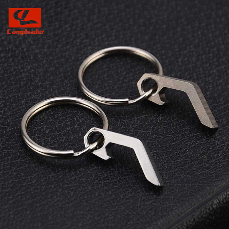 titanium alloy mini bottle opener keychain tools outdoors campings pocket tools