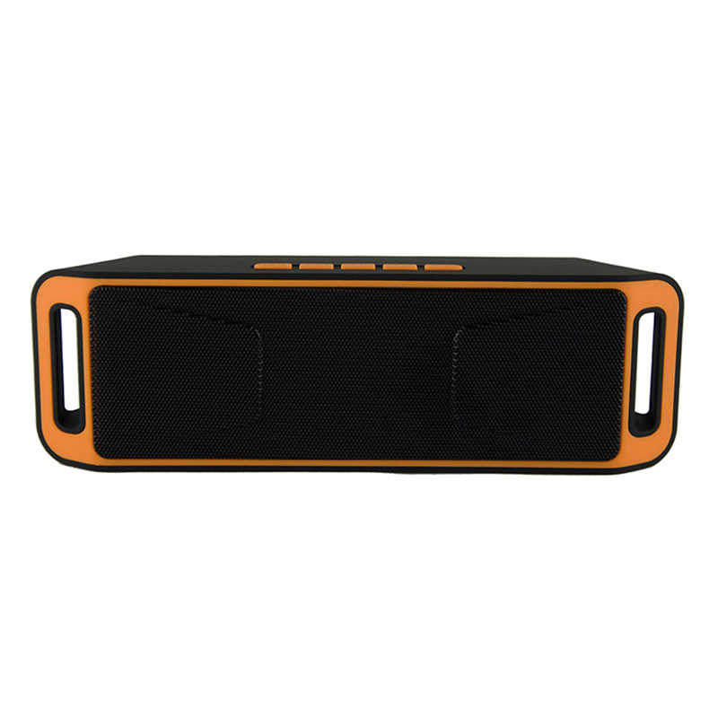 Mini Nirkabel Bluetooth Speaker USB FM Radio Stereo Super Bass MP3 Player Orange