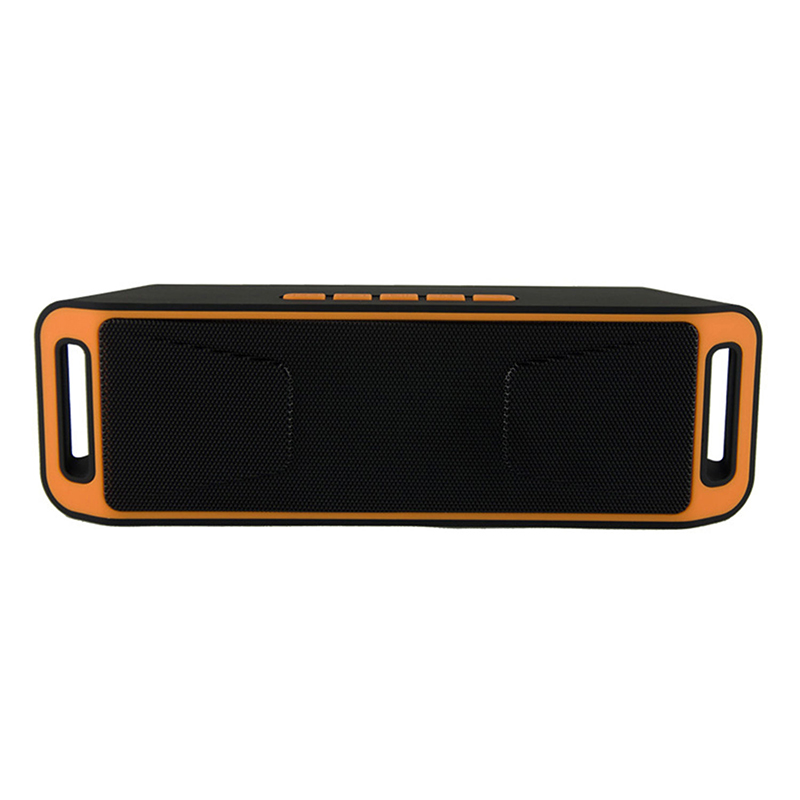 Mini Wireless Bluetooth Speaker USB FM Radio Stereo Super Bass MP3 Player Orange