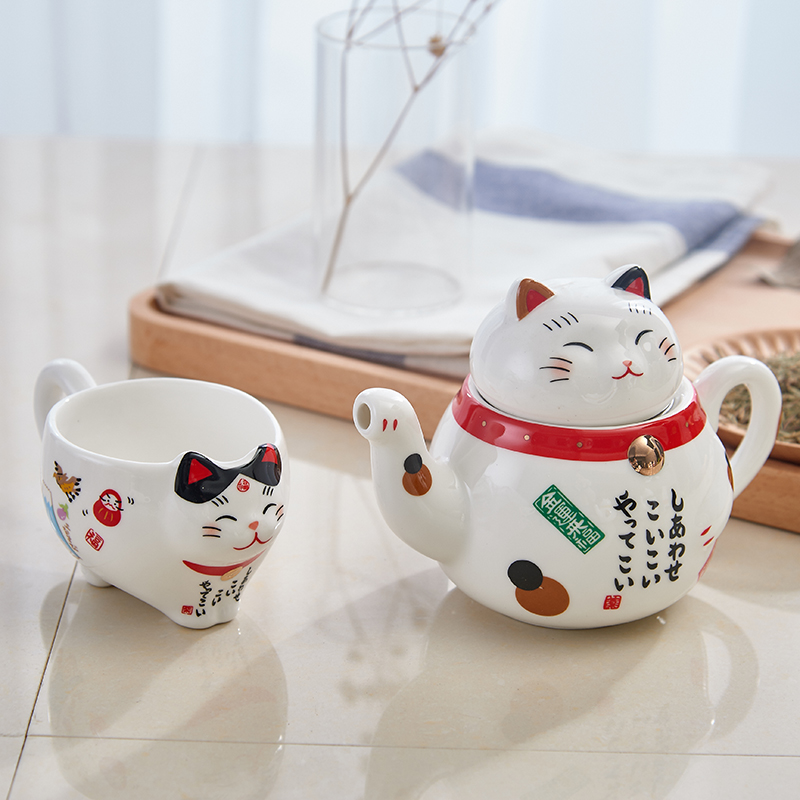 Cute Plutus Cat Teapots Cups Coffee Milk Mug Sets Creative Cartoon Tea Pot Cup Ceramic Home Decor Xmas Gifts 1 And In From Garden