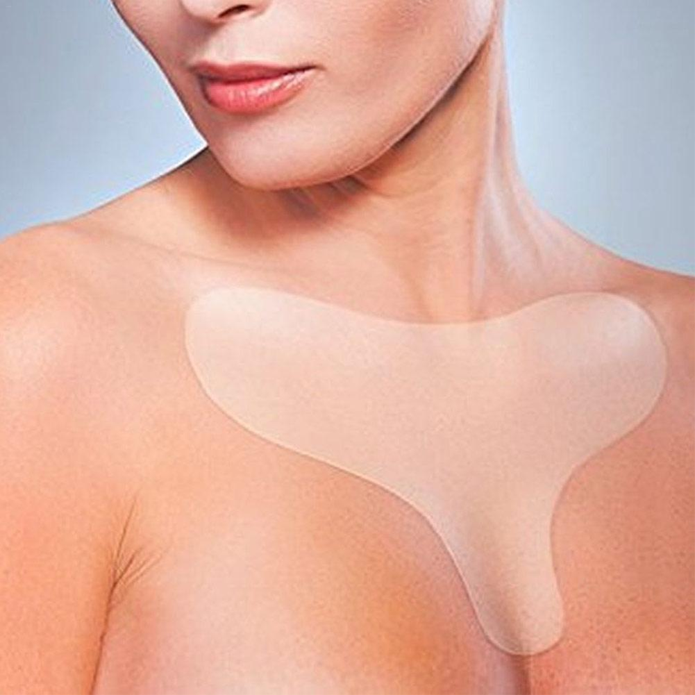 1 PC Anti Wrinkle Chest Pad Silicone Chest Wrinkles Remover Pads Neck Skin Lift Anti Aging Treatment Silicone Pad Drop Ship New