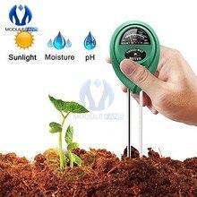 3 в 1, светильник для почвы, воды, влажности, рН-метр, цифровой анализатор, тестовый детектор для садовых растений, растений, гидропонных садов...