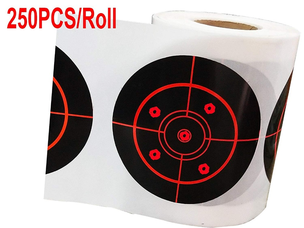 Odm Fluorescent Red Shooting Targets Stickers, 3 Inch Adhesive Reactive Targets   250 Round Splatter Targets Pasters