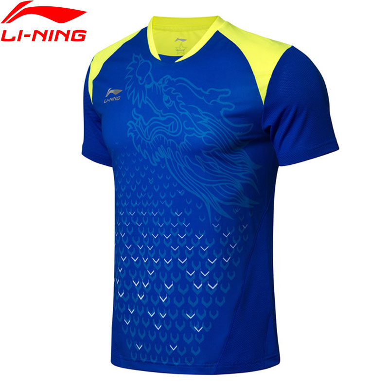 (Clearance Sale)Li-Ning Men Table Tennis T-shirt National Team Sponsor LiNing Competition Sports T-shirts Tops AAYN175 MTS2776(Clearance Sale)Li-Ning Men Table Tennis T-shirt National Team Sponsor LiNing Competition Sports T-shirts Tops AAYN175 MTS2776