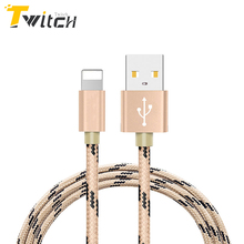 Newest 8 pin Metal Braided Wire Sync Data Charger USB Cable For iPhone 6 7 6s plus 5 5s iPad 4 Air 2 Mobile Phone Cables