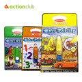 Brinquedos do bebê Magia Crianças Livro De Desenho de Água Com 1 Magia caneta Crianças Educacionais Brinquedo Olhos Formação Livro Para Colorir a Água Pintura placa