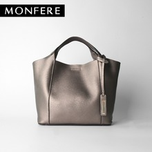 MONFERE SPLIT LEATHER TOP-HANDLE bags cow leather tote casual bucket women messenger bags desigual high quality ladies handbags