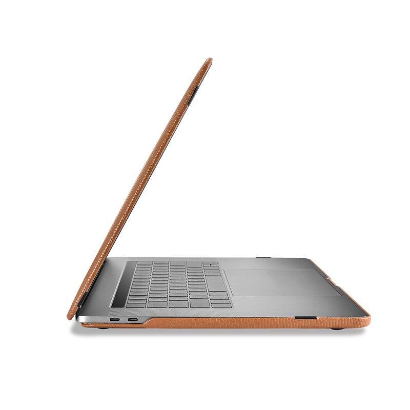 Housse pour ordinateur portable en cuir de vachette véritable pour Apple Macbook Pro 13 15 2018 2017 coque de protection pour Macbook A1706 A1708 A1989 A1707 A1990 - 3