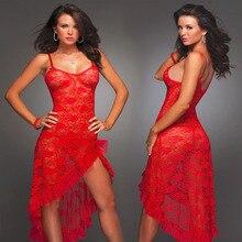 Summer Hot big size S-6XL,M,XL,XXXL,XXXXL dress+g string sexy lingerie long lace nightgown home suspenders long