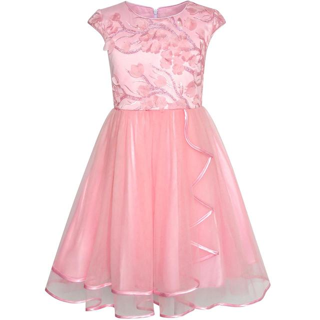 Flower Girl Dress Dimensional Cutting Edge Pageant 2020 Summer Princess Wedding Party Dresses Size 6 12 Carnival Vestidos