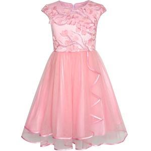 Image 1 - Sunny Fashion Robe Fille Fleur Dimensionnelle En pointe Jupe Reconstitution historique