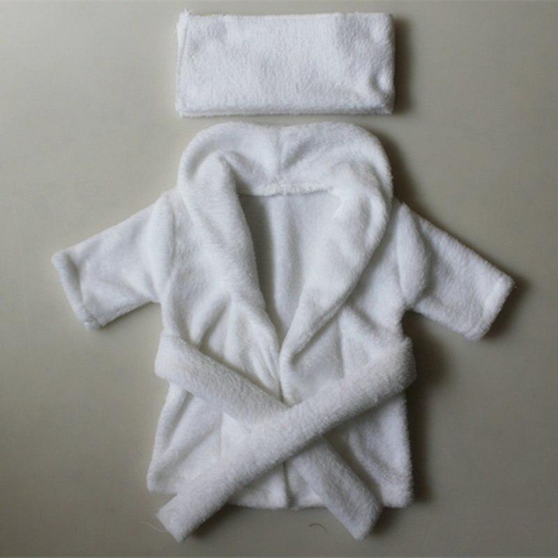 Pasgeboren nachtkleding 2 stks / set badjas + hoofdbanden fotografie - Babykleding - Foto 2