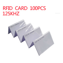 100pcs RFID Cards 125KHz Smart Card Proximity RFID Tag for Access control rfid tag door open 0.9mm card
