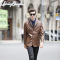 New Autumn and Winter Men's Faux Sheep Skin Leather Jacket Men Vintage Jackets Fashion Coat Style Coats Free Shipping