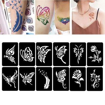 118 Pegatinas Para Unas Henna Plantillas Para Tatuar Temporales