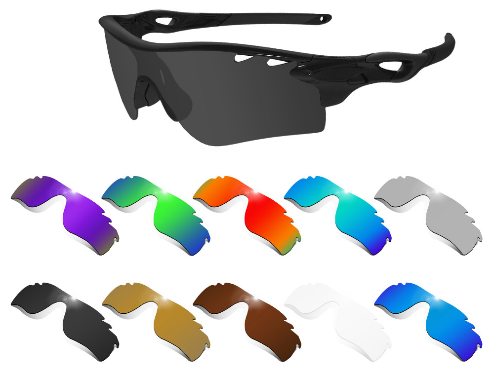 Glintbay Performance Polarized Replacement  Lenses for Oakley Radarlock Path Vented Sunglass - Multiple Colors
