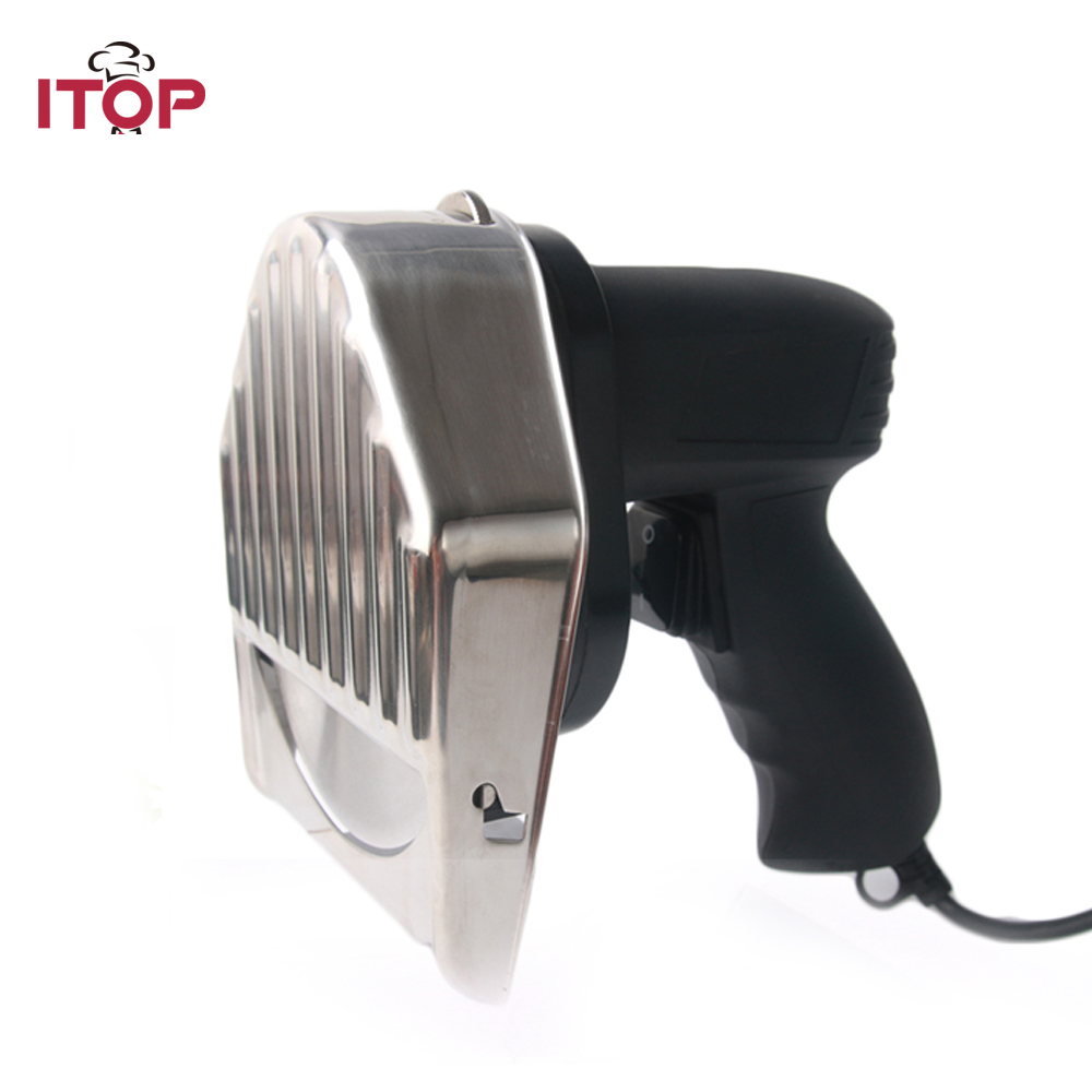 ITOP Electric Kebab Cutter Doner Kebab Slicer Shawarma and Gyros Cutter Kitchen Knife With 2 Blades Meat Processors 110V 220V fast delivery professional electric shawarma doner kebab knife kebab slicer gyros knife gyro cutter 2 blades