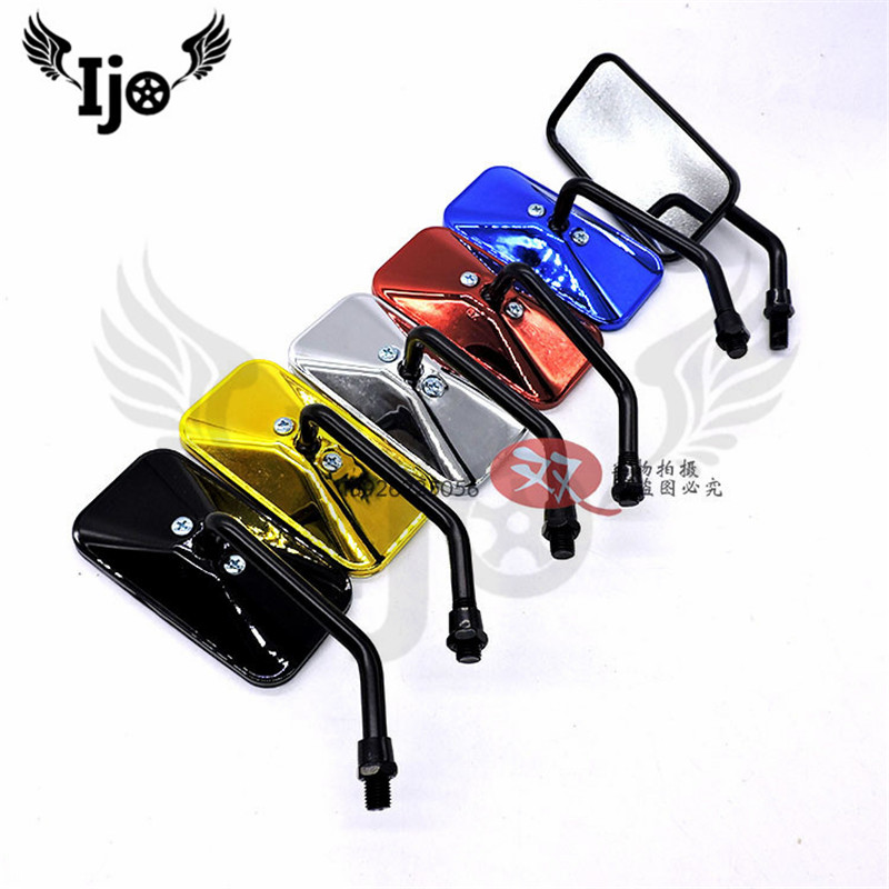 rectangle moto accessories motorcycle rearvectiew mirror unviersal motorbike side mirror for honda suzuki yamaha scooter mirrors