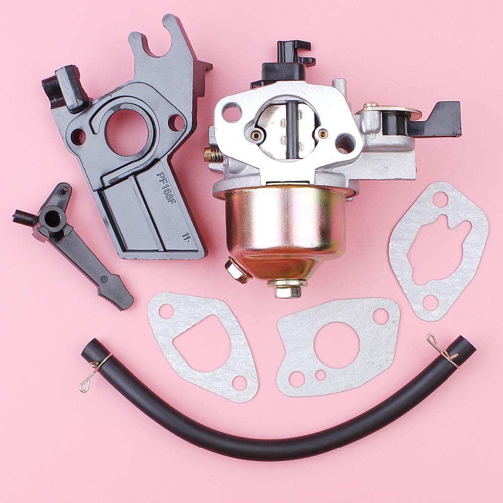Carburetor With Fuel Line Insulator Spacer Gasket Set For Honda GX200 GX160 GX 200 160 4-Stroke Mower Engine Parts