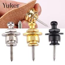 Yuker New Guitar Strap Lock Straplock Straplok Button for all Acoustic Electric Bass Guitar Strap 3 Colors Wholesale
