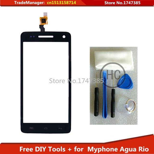 Free DIY Tools+Original Touch Screen For Myphone Agua Rio Glass sensor touch screen digitizer Black