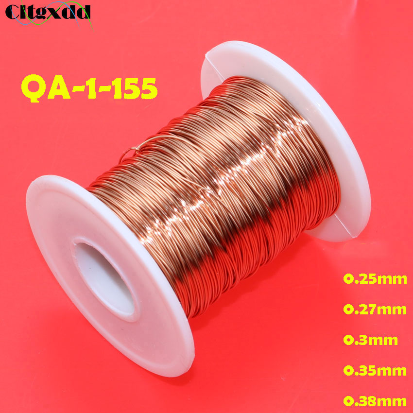 cltgxdd 0.25 / 0.27 / 0.3 / 0.35 / 0.38 mm New polyurethane enameled wire QA-1-155 copper wire 50 meterscltgxdd 0.25 / 0.27 / 0.3 / 0.35 / 0.38 mm New polyurethane enameled wire QA-1-155 copper wire 50 meters
