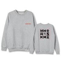 monsta x 2019 new spring autumn coat Sweatshirt Korean version KPOP men women Cotton black White gray Pink Letter printing