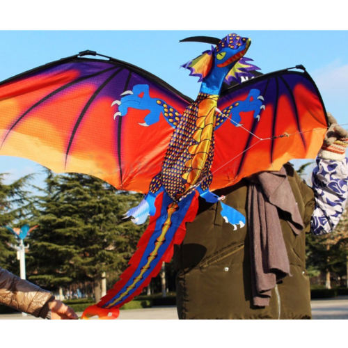 3D Dinosaur Kite Single Line With Tail Family Outdoor Sports Toy Children Kids Outdoor Fun Sports Dinosaur Kites Toys