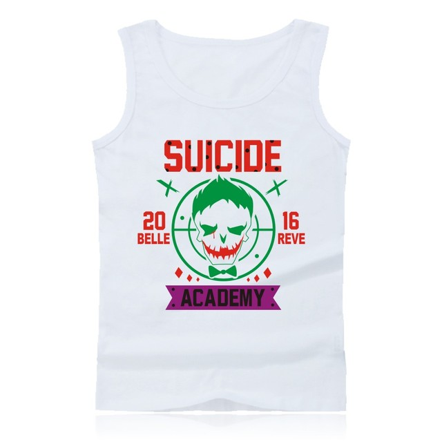 Harley Quinn Joker tank top short sleeveless tank