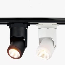 LED Track Light 12W 20W AC85-265V Clothing Shop Windows Showrooms Exhibition Spotlight COB LED Ceiling Rail Lamp