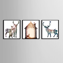 Hot Sales Without Framed 3 Panels Picture Nordic Elk Series HD Canvas Print Painting Artwork Wall Art painting Wholesale