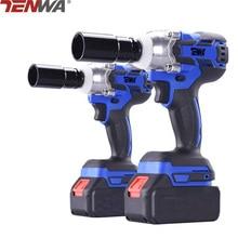 TENWA 18V 3600mAh Brushless/ Cordless Electric Wrench Impact Socket Wrench Li Battery Hand Drill Installation Power Tools
