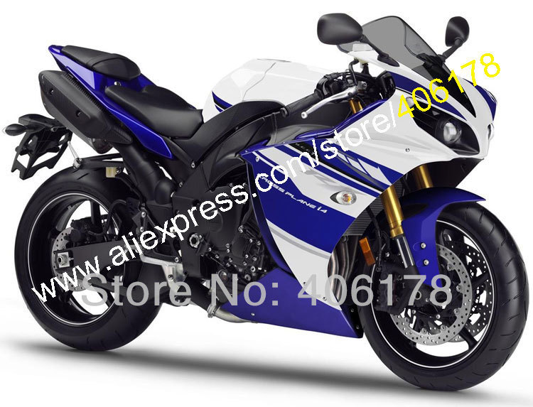 Hot Sales,YZF1000 R1 Abs Fairing For YAMAHA YZF R1 12-14 YZFR1 2012 2013 2014 Blue White Motorcycle Fairing (Injection molding) hot sales yzf600 r6 08 14 set for yamaha r6 fairing kit 2008 2014 red and white bodywork fairings injection molding
