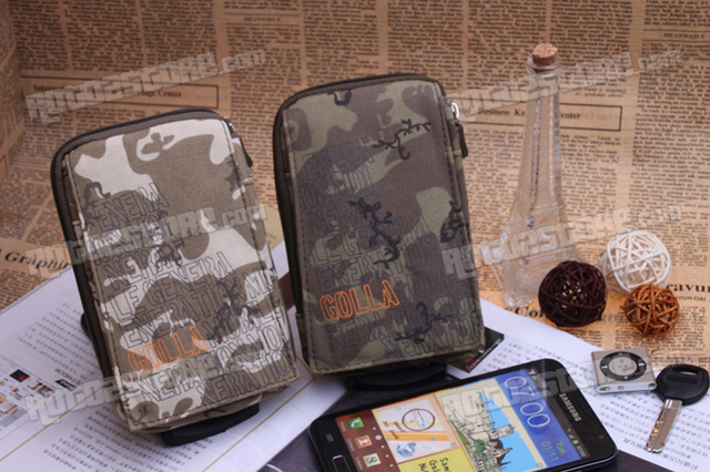 Cell Phone Mobile  Bags man Case Canvas For i9220 n7100n700 zp900zp950 s880 Shockproof  Bag for camera phone key   Free shipping