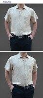 100% natuurlijke zijde korte mouwen mannen, pure zijde business casual plaid shirts, 100% zijde turn-down kraag mannen shirt