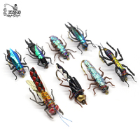 16pcs Wet Fly Fishing Flies Set Insect Lure Realistic for Bass Fishing Assortment Fly lure Trout Lure kit
