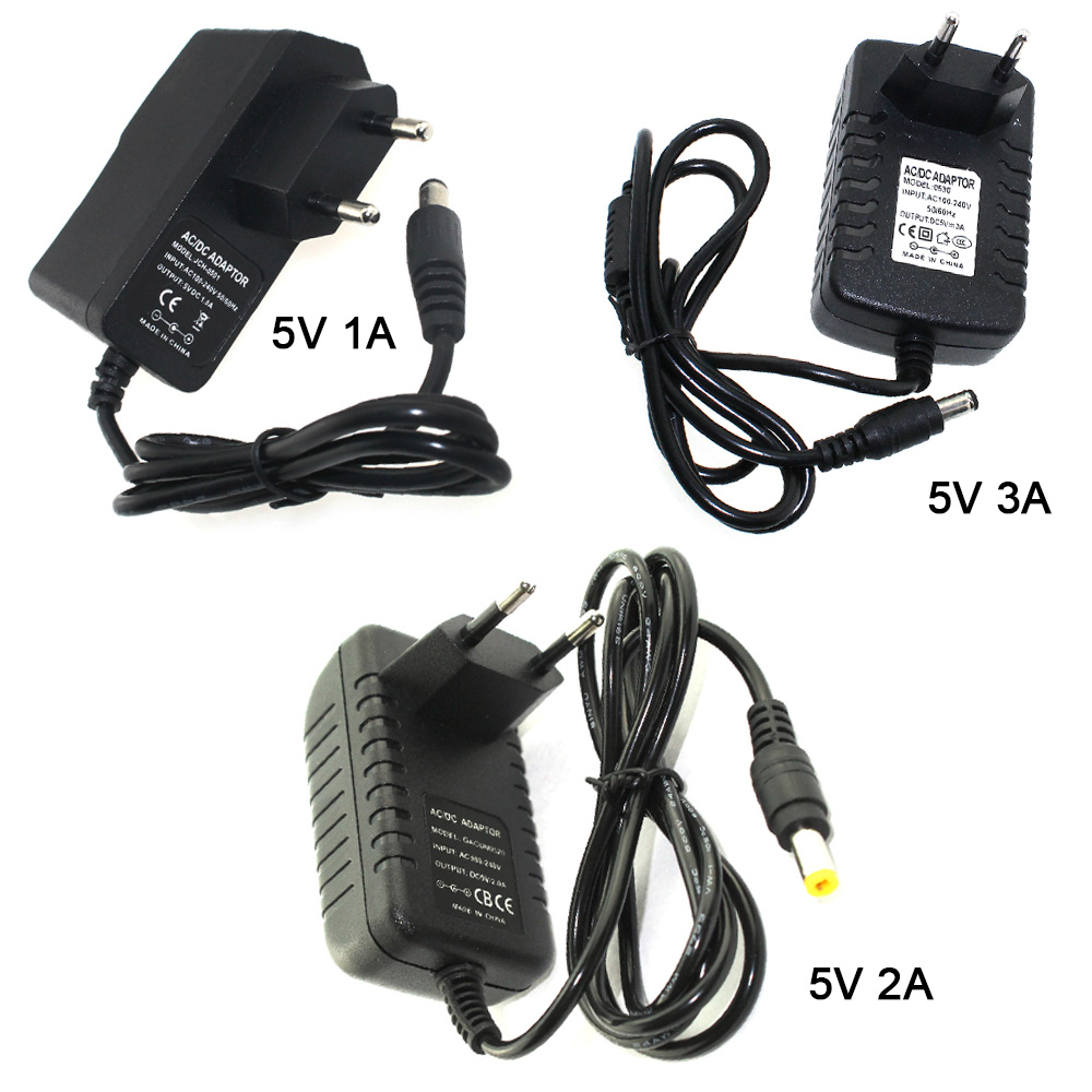 цена на Power Adapter 1A 2A 3A 5V 12V Adapter Power Switching Charger Supply EU US Plug AC to DC 12V 5.5x2.5mm DC Port CE ROHS