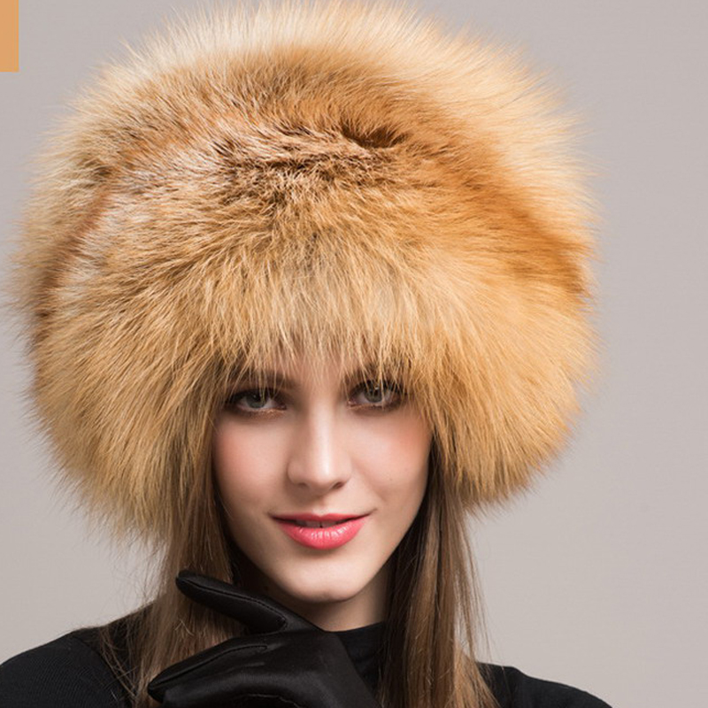 d2f1fec4 Valpeak Women Winter Fur Hat Real Integral Fox Fur Hats with Russian  Mongolian Womens Fur Hats-in Women's Skullies & Beanies from Apparel  Accessories on ...
