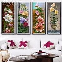 MYCELLA DIY Diamond Painting Flower Full Mosaic Sticker Decor Painting Cross Stitch 5d Diamond Embroidery Tulip