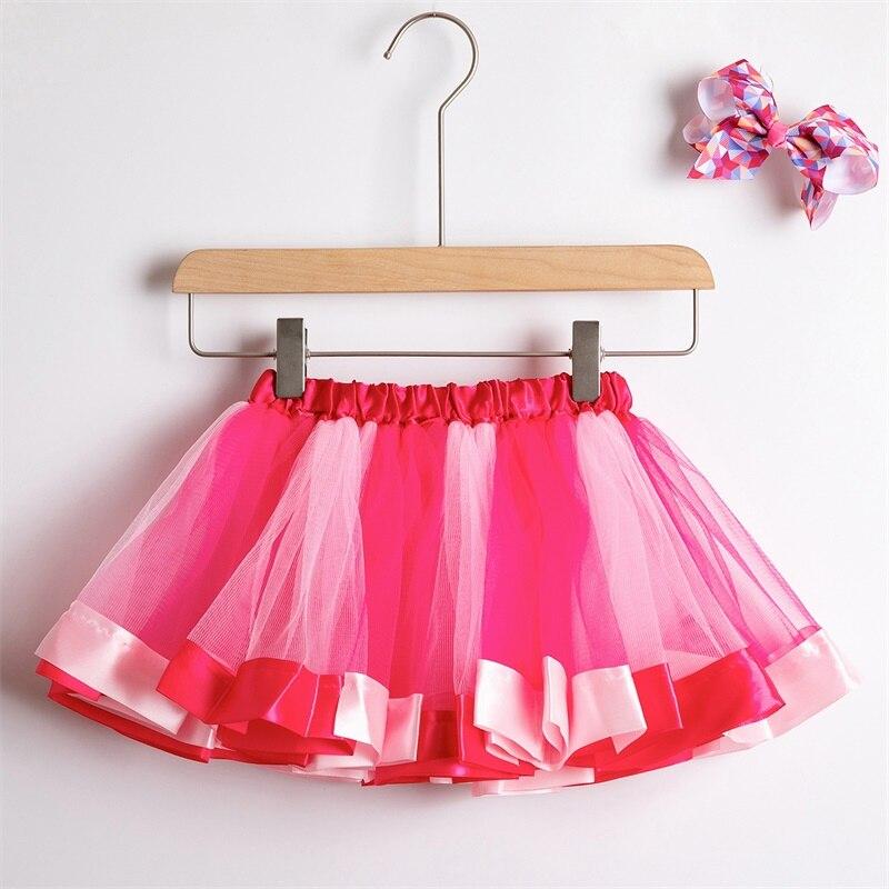 Юбка-пачка; юбки для маленьких девочек от 1 до 8 лет; юбка-американка принцессы; фатиновые юбки радужной расцветки для вечеринок и танцев; Одежда для девочек; одежда для детей - Цвет: 1