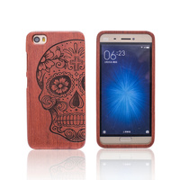 Original Real Wood Bamboo Case For Xiaomi 5 Mi 5 With Fashion Luxury Follower Embossed Pattern