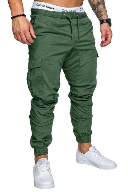 Casual men's harem pants Spring autumn Drawstring elastic waist Joggers trousers Homme Cargo Pants male hip hop Sweatpants 4