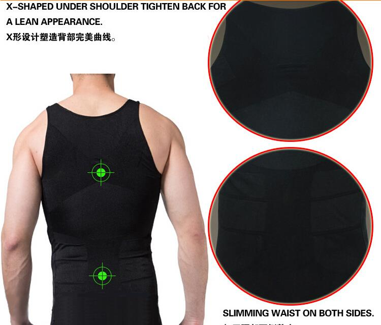 10PCS Men Slimming Body Shaper Belly Fatty Underwear Vest Shirt Corset Compression shapewear Cincher Underbust Corset