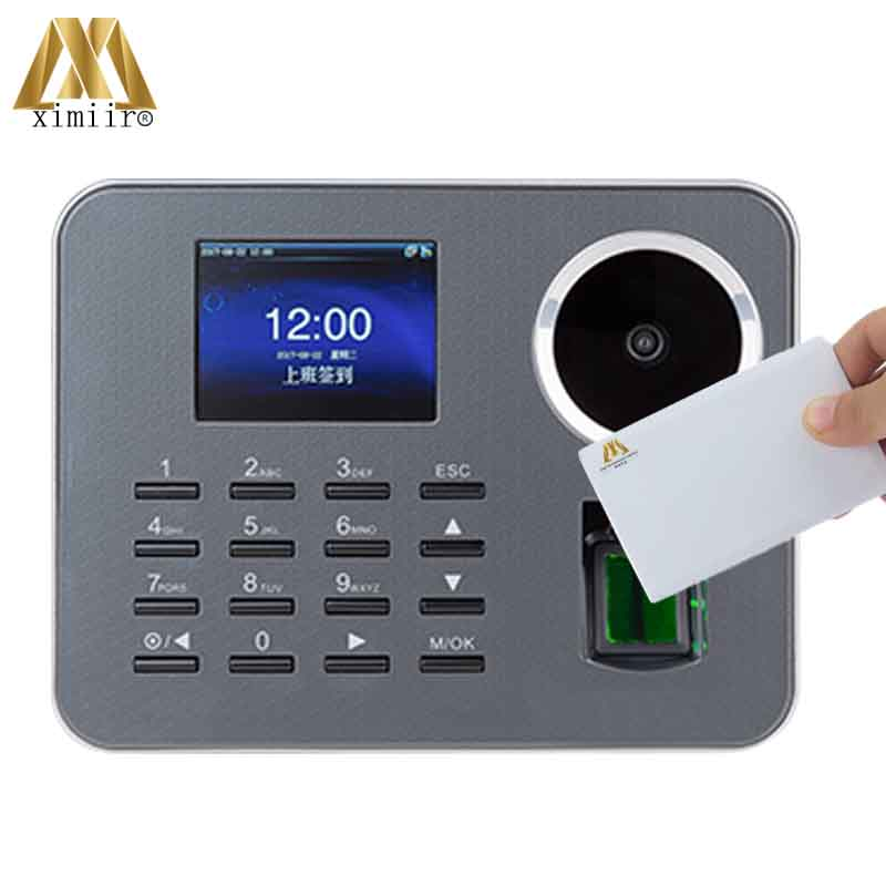 Biometric Fingerprint Time Attendance With 13.56MHz MF Card ZK Iclock360-P Palm Employee Attendance Time Clock