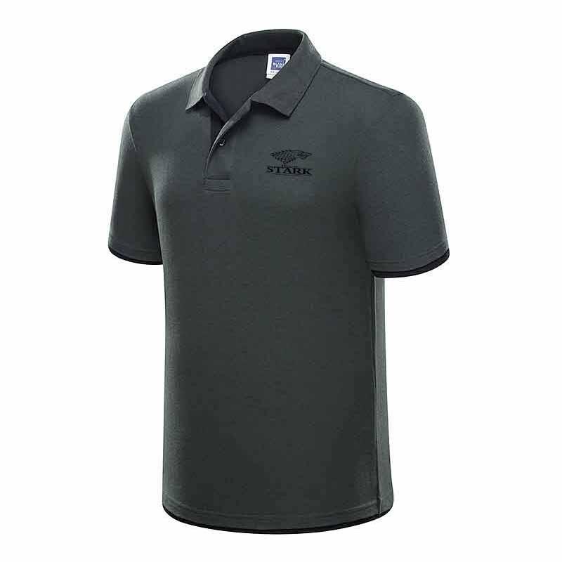 New Brand Men's   Polo   Shirt for Men STARK Desiger   Polos   Men Cotton Short Sleeve Shirt Clothes Jerseys Golftennis Plus Size XXXL